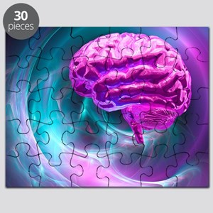 Brain research, conceptual artwork Puzzle